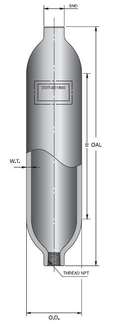 R  Pressure Room Temperature Storage Cylinder